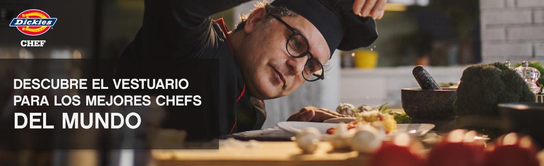 Dickies Chef trae el estilo a tu cocina. Comodidad, durabilidad y prendas de vestir excepcionalmente funcionales.
